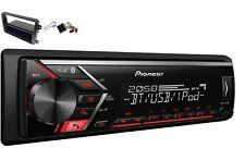 Pioneer MVH-S300BT USB MP3 RDS AUX Einbauset für VW CADDY CC GOLF PASSAT TOURAN