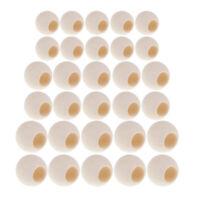 30 pcs Holzperlen Holzkugeln Holz perlen mit Loch Bastelnperlen für DIY Schmuck
