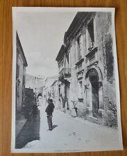 ANTICA FOTOGRAFIA PAESAGGISTICA SICILIA TAORMINA CORSO UMBERTO SUBALPINA