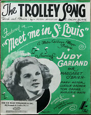 "The Trolley Song from ""Meet Me in St. Louis"" starring Judy Garland – Pub. 1944"