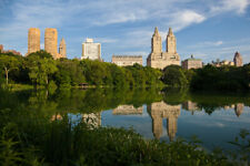 Central Park West Summer Reflection New York Photo Art Print Poster 18x12