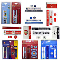 Football Team FC Core School Stationery Pencil, Ruler, Eraser, Sharpener Set New