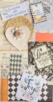 Junk Journal Kit, 0ver 75 Items, Vintage Book Pages, Scrapbooking Paper, Quotes