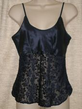 Womens Unbranded Navy Blue/Lace Front Adjustable Strap Camisole 6 B:34 W:32 L:15