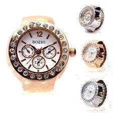 Dial Quartz Analog Watch Adjustable Design Cool Elastic Quartz Finger Ring Watch