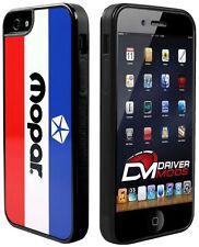 Cell Phone Case Cover iPhone 5 MOPAR Chrysler Logo White Blue Red Black