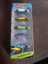 New Hot Wheels 5 Pack - hw exotics - inc Lamborghini , Porsche , aston martin