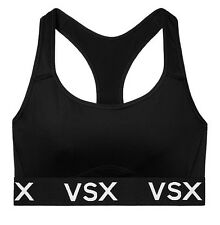 NWT Victorias Secret VSX Logo The Player Racerback Sport Bra Black Small S