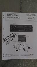 New listing Kenwood krc-530 service manual original repair book car radio tape player