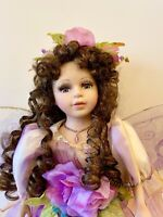 Fairy Porcelain Doll-Collectible Limited Edition Porcelain Dolls-New W/Flaw