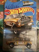 2020 Hot Wheels Gold 55 Chevy Bel Air Gasser Legends Tour Exclusive