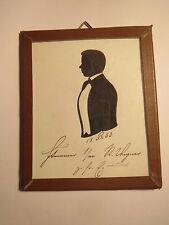 Heidelberg - 1853 - Student Stammer ? aus Lübeck - Schattenriss Silhouette