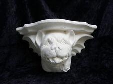Ready to Paint Gargoyle Shelf -  Dog Head 27cm wide