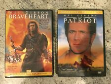 Braveheart, The Patriot Mel Gibson movies, Dvd, Very Good condition