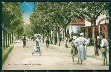 Rimini Riccione Viale Ceccarini PIEGATA cartolina QT3437