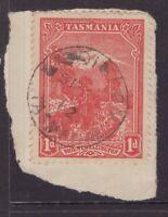 Tasmania LISDILLON 1912 postmark on 1d pictorial rated S+ (6*) by Hardinge