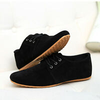 Men Casual Suede Shoes Dress Formal Oxfords Lace Up  Flats Loafer Sneakers 6.5-9