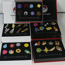 Pokemon Gym Badges Gen League Total 5 sets Complete Set of 8 Pins with Badge Box