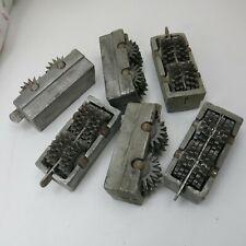 Edco Concrete Grinder Scarifier Blocks Lot Of 6 12 Point Cutting Wheels