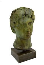 Dionysus bronze statue bust God of winemaking, wine, ritual ecstacy artifact