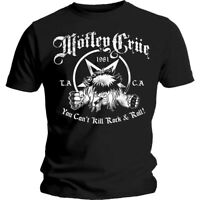Official Licensed Merch Men's T-SHIRT Top MOTLEY CRUE You Can't Kill Rock N Roll