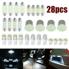 28* Car Interior Led Light Bulbs For Map Dome License Plate Lamp Kit Car Parts