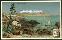 Gulf of Genes Riviera Genoa Italy c1903 Trade Ad Card