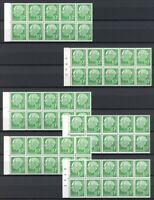 Bund 6 Varianten von MiNr. H-Blatt 10 postfrisch MNH (V301