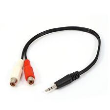 3.5mm 1/8 Stereo Male Mini Plug to 2 Female RCA Jack Adapter Audio Y Cable UK