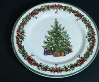 "Christopher Radko Holiday Celebrations Green Trim 8 1/4"" Salad Plate"