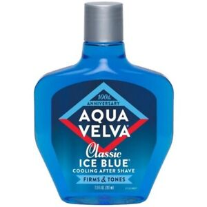 Aqua Velva Classic Ice Blue After Shave, Cooling. 3.5 FL Oz