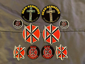 """Lot (10) DEAD KENNEDYS 2 to 4"""" Band Logo Stickers FAST SHIP! Jello Biafra"""