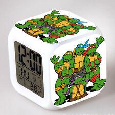 Fun Teenage Mutant Ninja Turtles Color Changing Night Light Alarm Clock Kids Toy