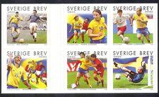 Sweden 2004 Swedish Football/Sports/Games/Soccer/Animation 6v bklt pane (n40003)