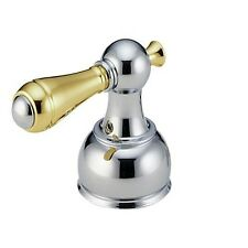 Delta H215CB Two Metal Lever Handle Kit, Chrome and Polished Brass