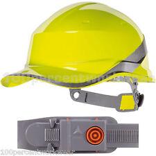 Delta Plus Venitex DIAMOND Hi Vis Viz YELLOW Hard Hat Safety Helmet Bump Cap PPE