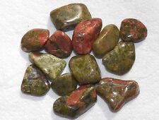 2 oz Bulk UNAKITE Med Tumbled Stones Healing Metaphysical Crystal Reiki FS