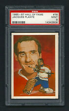 PSA 9 JACQUES PLANTE 1985 HALL OF FAME CARD #76