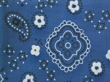 BLUE BANDANA AMERICAN COWBOY WESTERN BIKER COUNTRY FARM SEW CRAFT FABRIC BTHY#