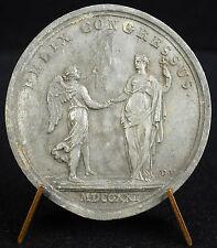 Médaille  la double alliance France-Espagne Louis XV Felix Congressus 1721 medal