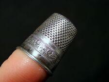 Dé à coudre argent massif XIX° decor Louis XVI poinçon sanglier / Silver Thimble