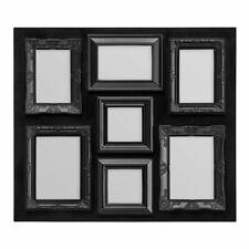 Premier Housewares 58x3.2x51cm 7 Decorative Photo Multi Frame Black Chic Detail