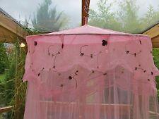 Betthimmel Baldachin Moskitonetz Mädchen rosa Prinzessin Fee Blumen Mücken Neu