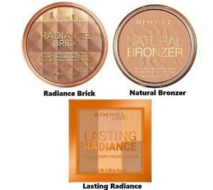 Rimmel London Natural Bronzer, Radiance Brick & Lasting Radiance Powder - CHOOSE