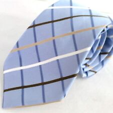 Donald J Trump Mens Designer Tie Blue Silk Signature Gold Collection Diagonal