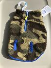 Top Paws blue with camo fleece dog apparel brand new with tags Small