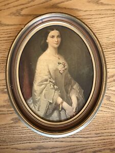 """Antique """"Southern Belle"""" Painting By Artist Erich Correns OLD"""