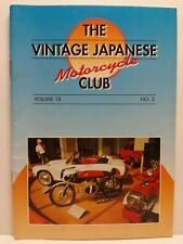 Vintage Japanese Motorcycle Club VJMC Newsletter Magazine Volume 18 #3 1999