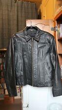 Vintage Burgundy Leather Jacket size 40 slim made in Argentina