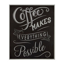 Premier Housewares Coffee Makes Everything Possible Wall Plaque - Black